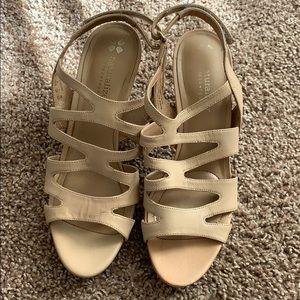 Naturalized brand nude heel